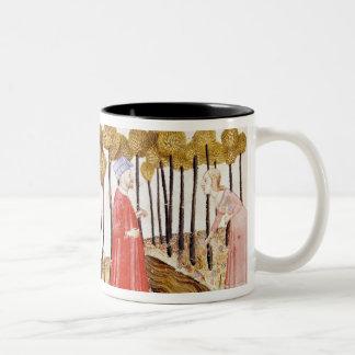 Dante and Virgil  at the Summit of Purgatory Two-Tone Coffee Mug