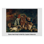 Dante And Virgil In Hell By Eugene Delacroix Print