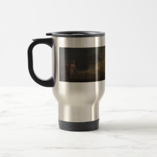 Dante and Virgil in Hell by Jean-Leon Gerome Stainless Steel Travel Mug