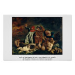 Dante And Virgil In Hell (The Barque Of Dante) Print