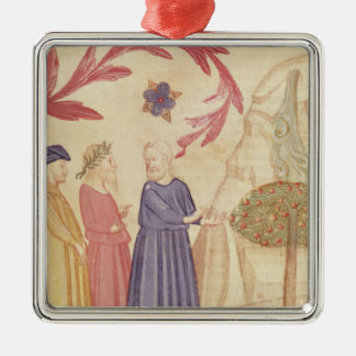 Dante and Virgil  in the Terrestrial Paradise Christmas Ornament