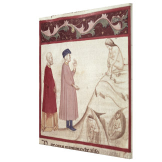 Dante and Virgil  meet the souls imprisoned Canvas Print