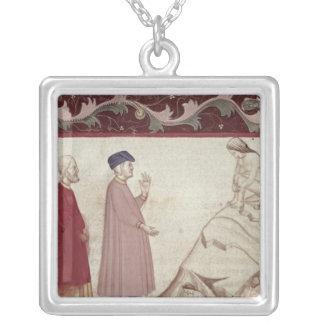 Dante and Virgil  meet the souls imprisoned Custom Necklace