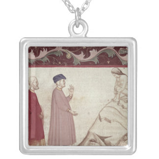 Dante and Virgil  meet the souls imprisoned Silver Plated Necklace