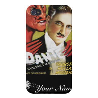 Dante ~ Europe's Magician Vintage Magic Act Covers For iPhone 4