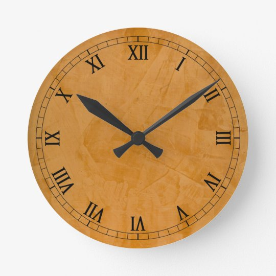 Dante Faux Finish Roman Numerals Wall Clock