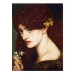 Dante Gabriel Rossetti- Blanzifiore (Snowdrops) Post Card