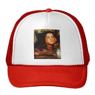 Dante Gabriel Rossetti- Girl at a Lattice Hat