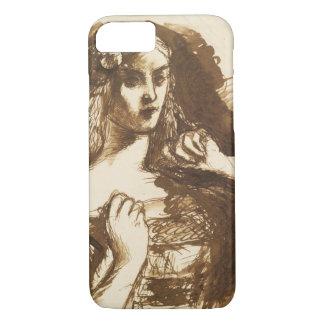 Dante Gabriel Rossetti - Half-length Sketch iPhone 7 Case