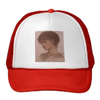 Dante Gabriel Rossetti- Portrait of Aflaia Coronio Hat