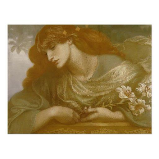 Dante Gabriel Rossetti: The Blessed Damozel Study Post Card