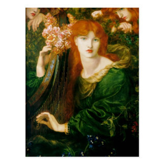 Dante Gabriel Rossetti- TheGarland Postcard
