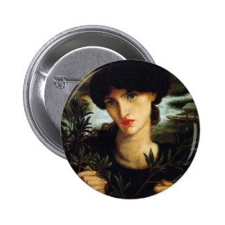 Dante Gabriel Rossetti- Water Willow 6 Cm Round Badge