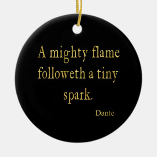Dante Quote Flame Spark Gold Faux Glitter Inspire Christmas Ornament