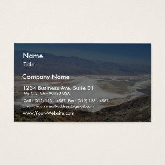 Dante S View Salt Flats Desert Death Valley Business Card