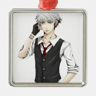 Dante Silver-Colored Square Decoration