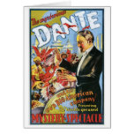 Dante ~ The Mysterious Magician Vintage Magic Act Note Card