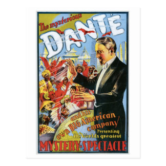 Dante ~ The Mysterious Magician Vintage Magic Act Postcard
