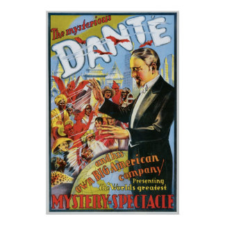 Dante ~ The Mysterious Magician Vintage Magic Act Poster