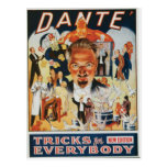 Dante Vintage Magician Advertisement Postcards