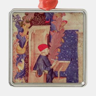 Dante writing 'The Divine Comedy' Christmas Ornament