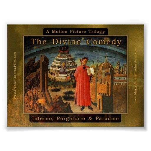 Dante's Divine Comedy Feature Film Trilogy Posters