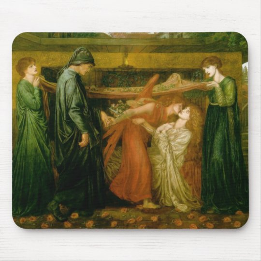 Dante's dream at the time of the death of Beatrice Mouse Mat