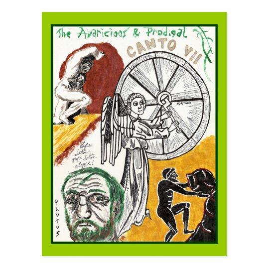 Dante's Inferno, Canto VII Postcard