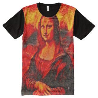 Dante's Inferno Mona Lisa Version All-Over Print T-Shirt