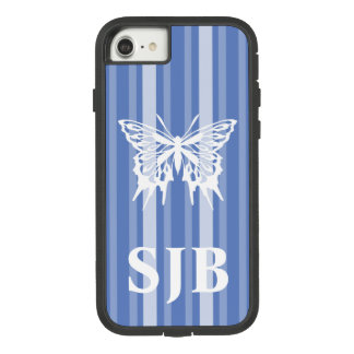 Danube Victorian Stripe with Butterfly Case-Mate Tough Extreme iPhone 8/7 Case