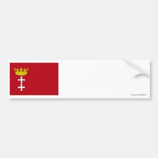 Danzig - Gdansk Flag Car Bumper Sticker