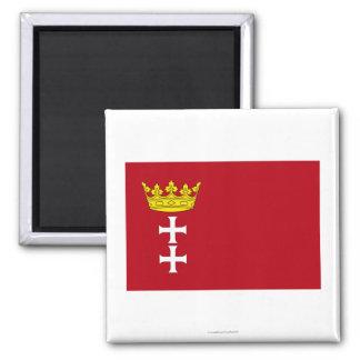 Danzig - Gdansk Flag Fridge Magnet