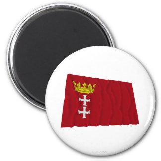 Danzig - Gdansk Waving Flag Fridge Magnet