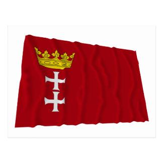 Danzig - Gdansk Waving Flag Postcard