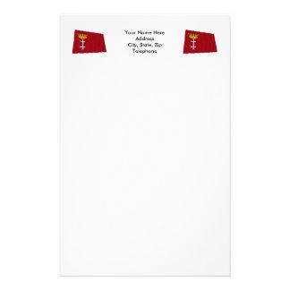 Danzig - Gdansk Waving Flag Custom Stationery