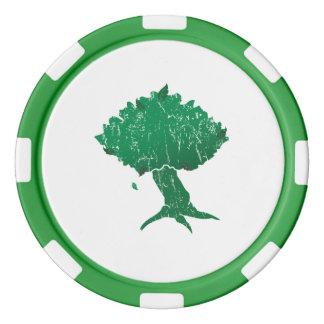 DAoC Hibernia Clay Poker Chips, Green Striped Edge Poker Chip Set