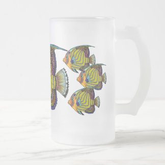 Daorges Angelfish Frosted Glass Mug