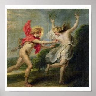 Daphne and Apollo (oil) Poster