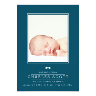 Dapper Baby 13 Cm X 18 Cm Invitation Card