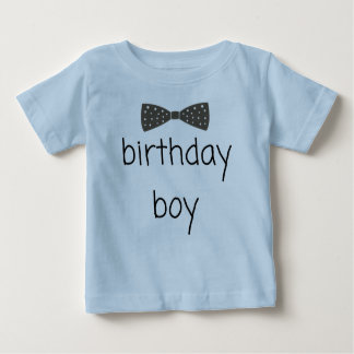 Dapper birthday boy T-shirt with bow tie