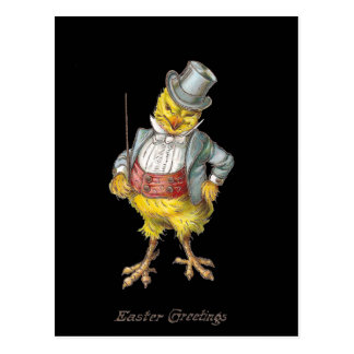 Dapper Chick Vintage Easter Postcard