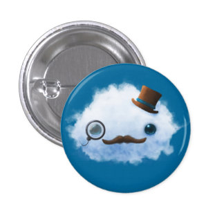 Dapper Cloud Pinback Button