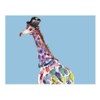 Dapper Giraffe Postcard