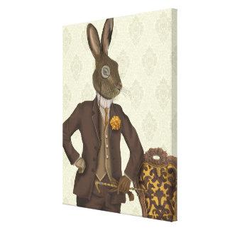Dapper Hare Canvas Print