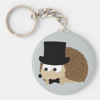 Dapper Hedgehog Basic Round Button Key Ring
