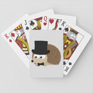 Dapper Hedgehog Playing Cards