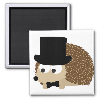 Dapper Hedgehog Square Magnet