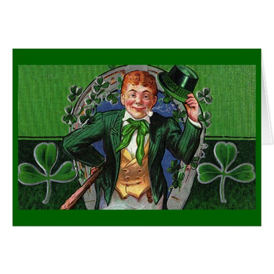 Dapper Leprechaun Vintage St. Patrick's Day Card