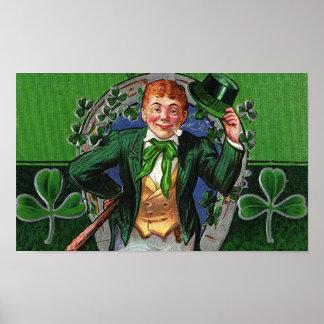 Dapper Leprechaun Vintage St. Patrick's Day Poster