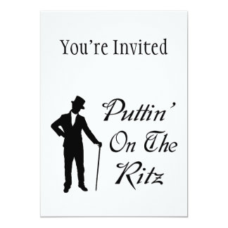 Dapper Man Puttin On The Ritz 13 Cm X 18 Cm Invitation Card